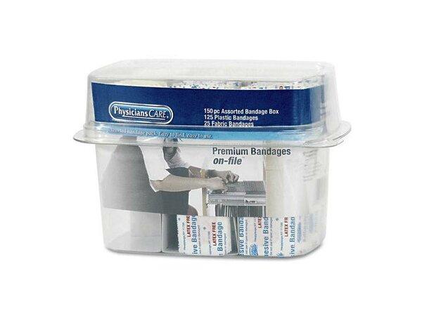 Bandage Box Kit, 150 Assorted Bandages by PhysiciansCare®