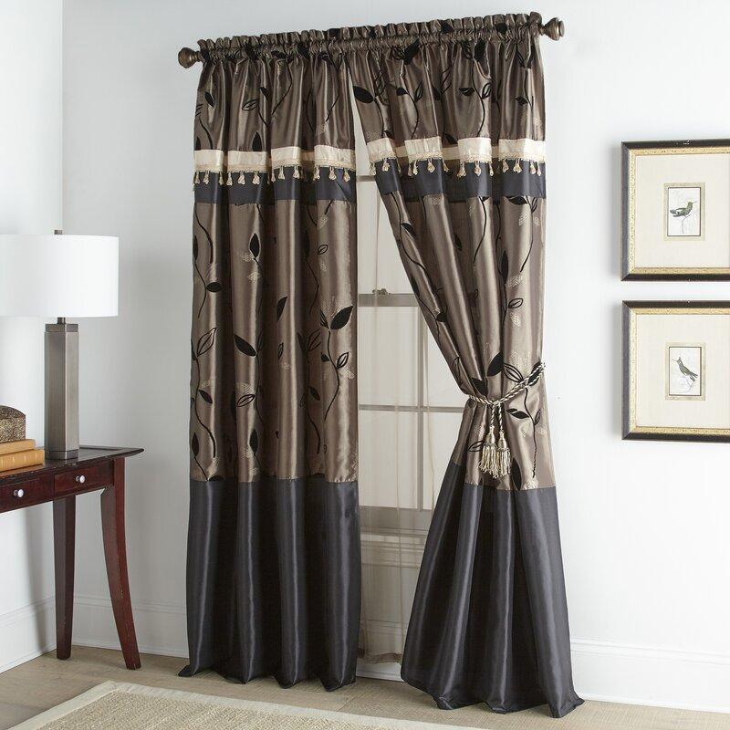 Astoria Grand Debrah Luxury Floral Room Darkening Rod Pocket Window Curtain Panels Reviews Wayfair