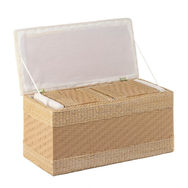 Maynard 3 Piece Woven Natural Nesting Storage Trunk Set by Bay Isle Home