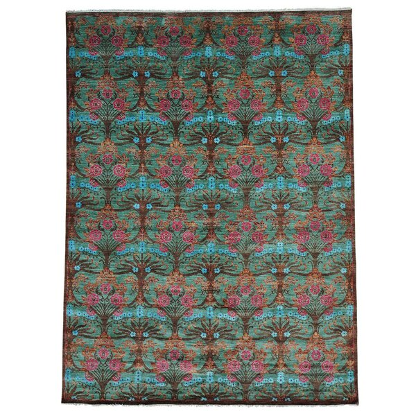 One-of-a-Kind Maulik Hand-Knotted Blue/Brown Area Rug by Bungalow Rose