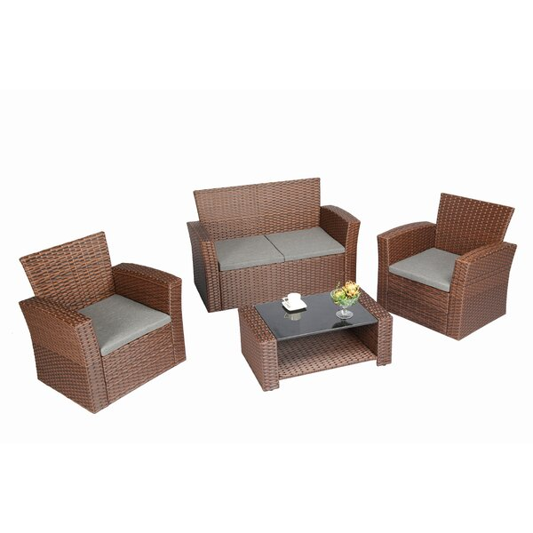 Patmos 4 Piece Deep Sofa Seating Group With Cushions By Zipcode Design by Zipcode Design Cool