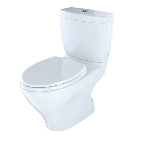 Aquia Dual-Flush Elongated Two-Piece Toilet (Seat Not Included) by Toto