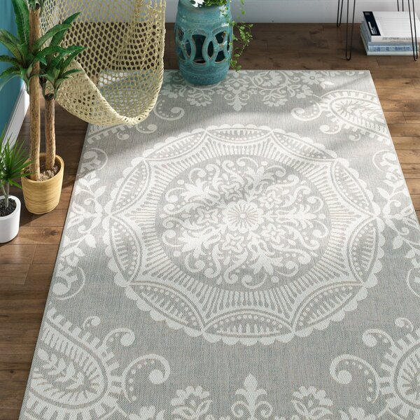 Gee Light Gray Indoor/Outdoor Area Rug by Bungalow Rose