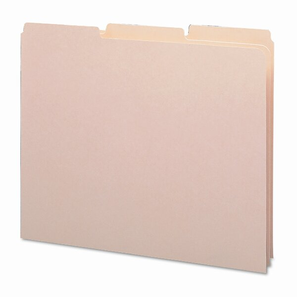 18 Point Recycled Tab File Guides, 1/3 Tab, 100/Box by Smead Manufacturing Company