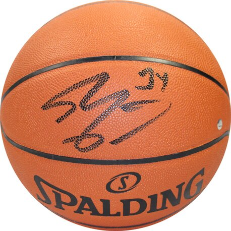 Decorative Shaquille ONeal Signed I/O Basketball by Steiner Sports