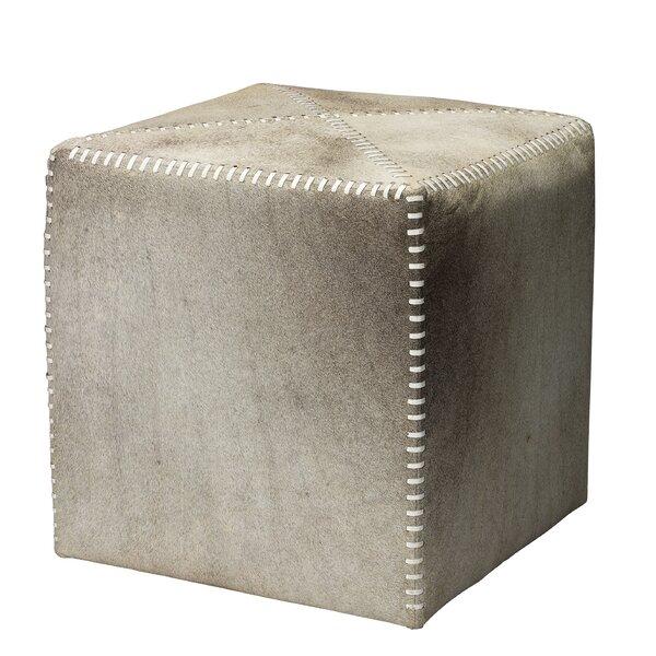 Compare Price Gillian Leather Cube Ottoman