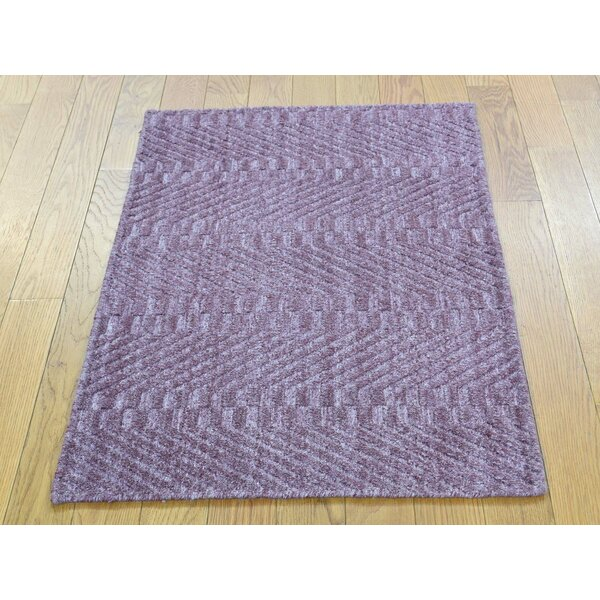 One-of-a-Kind Brinkley Art Handwoven Silk Area Rug by Isabelline