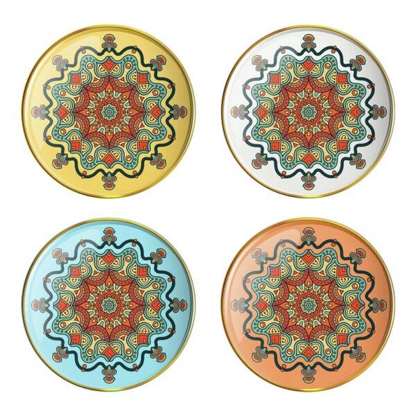 Mandala 4 Piece Accent Tray Set by Vandor LLC