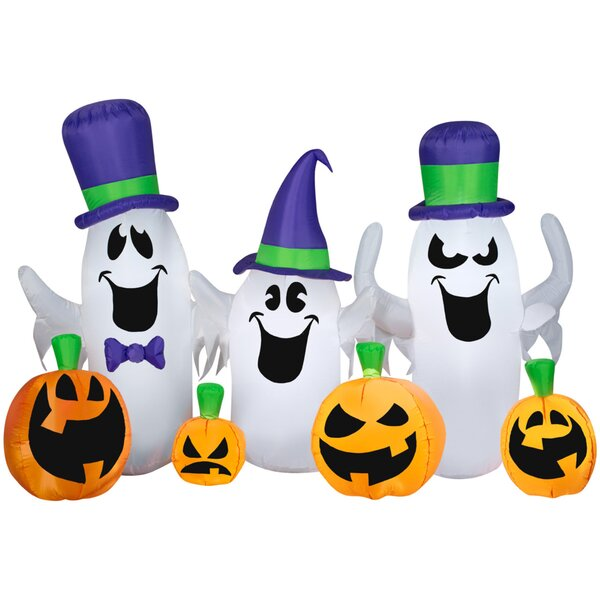 Airblown Ghosts and Jacks Collection Scene Inflatable by The Holiday Aisle