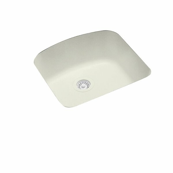 Solid Surface 21 x 20.25 Undermount Kitchen Sink by Swan