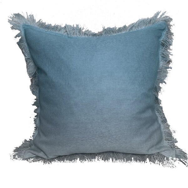 Weiler Ombre Fringe Throw Pillow by Ophelia & Co.