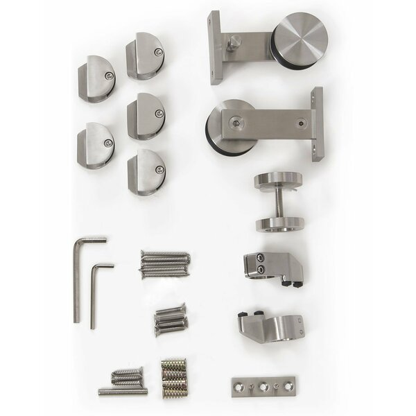 Single T-shape Stainless Steel Sliding Barn Door Hardware by Vancleef