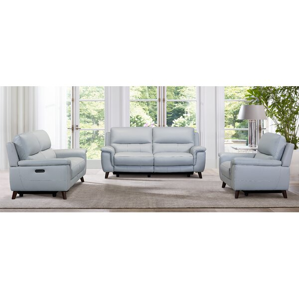 Lizette Leather Reclining Configurable Living Room Set by Red Barrel Studio