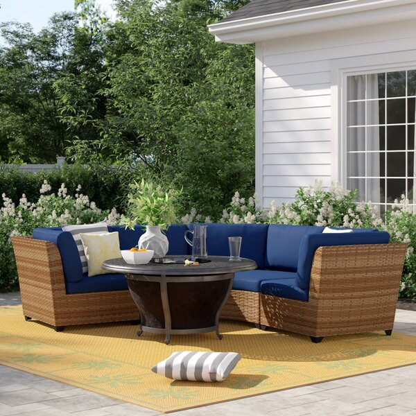 Waterbury 3 Piece Rattan Sectional Seating Group with Cushions by Sol 72 Outdoor