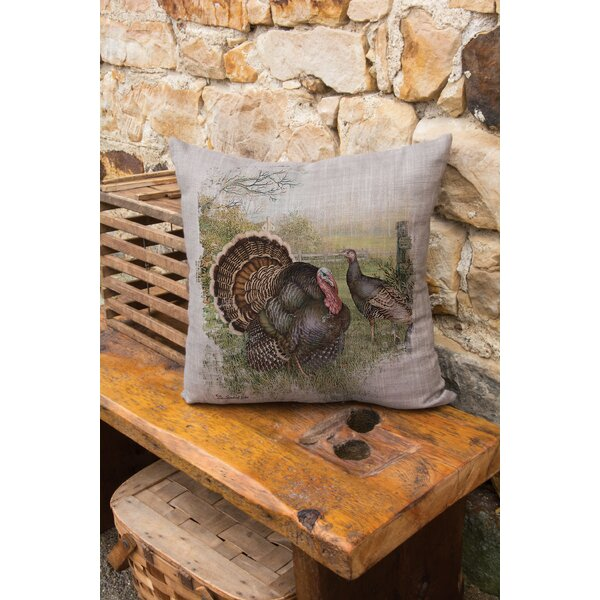 Wild Turkey Throw Pillow by Heritage Lace