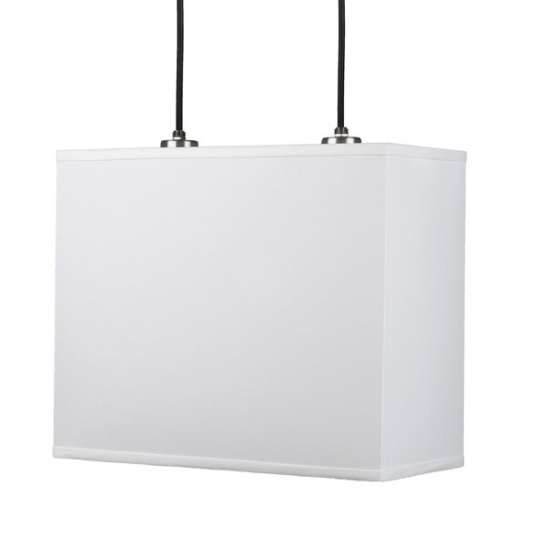 Rex 2-Light Square/Rectangle Chandelier by Lights Up!