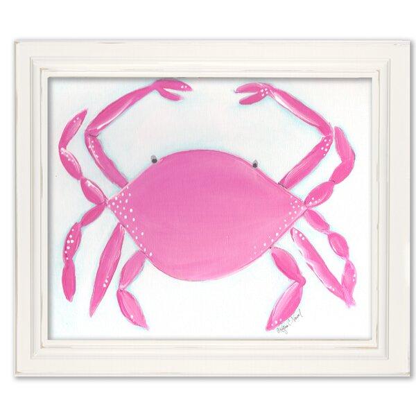Sea Creatures Caitlin the Crab Framed Art by Doodlefish