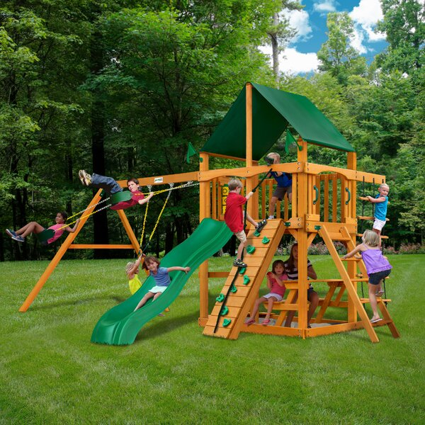 Chateau II Swing Set by Gorilla Playsets