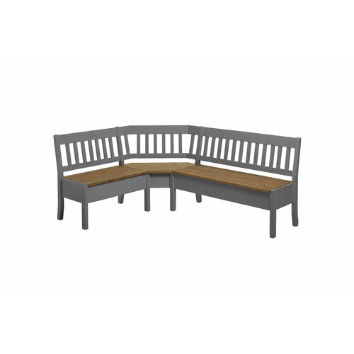 Garstang Wood Storage Bench August Grove Colour: Grey/Tortil