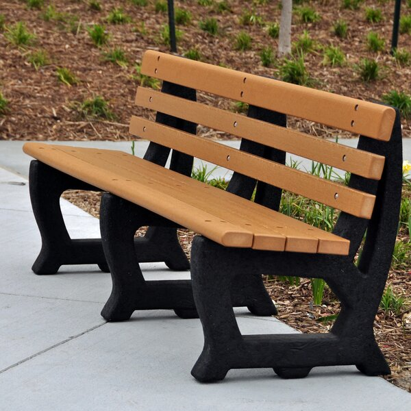 Brooklyn Recycled Plastic Park Bench by Frog Furnishings Frog Furnishings