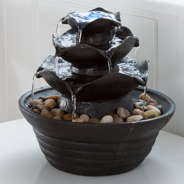 Resin/Acrylic Cascading Tabletop Fountain by Pure Garden