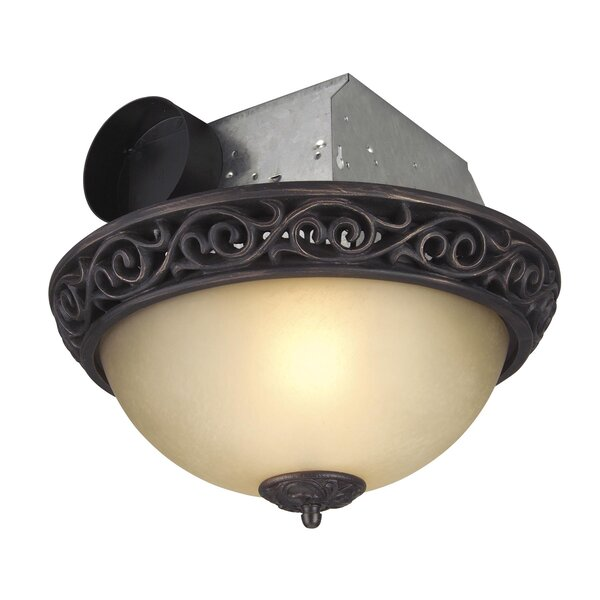 Gorges 70 CFM Bathroom Fan with Light by Fleur De Lis Living