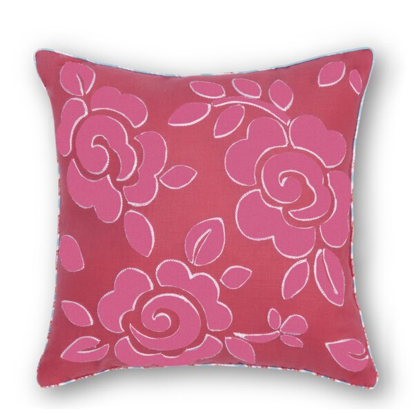Lincoln Flower Embroidered Throw Pillow by Viv + Rae