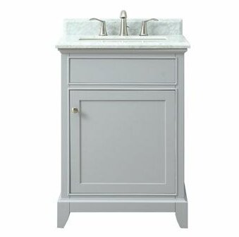 Bhushan Marble Top 25 Single Bathroom Vanity Set by Red Barrel Studio