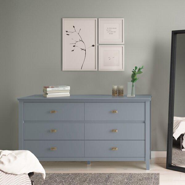 Gosport 6 Drawer Double Dresser by Three Posts