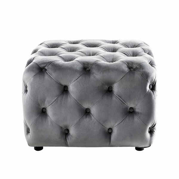 Lindberg Tufted Cube Ottoman by House of Hampton