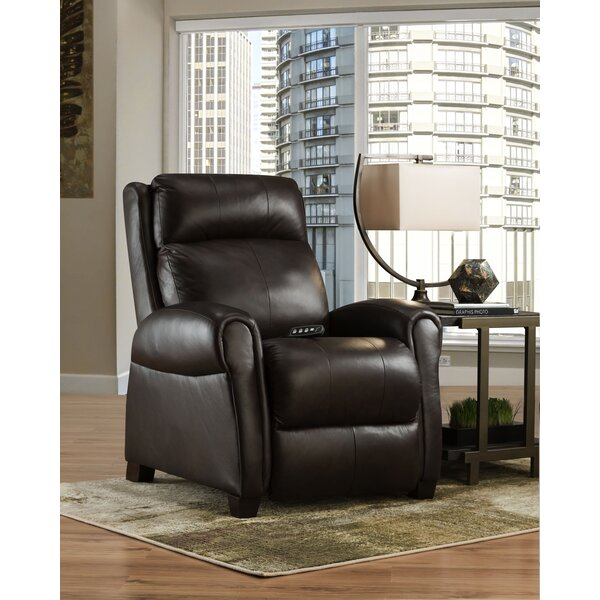 Saturn Genuine Leather Reclining Heated Massage Chair by Southern Motion Southern Motion