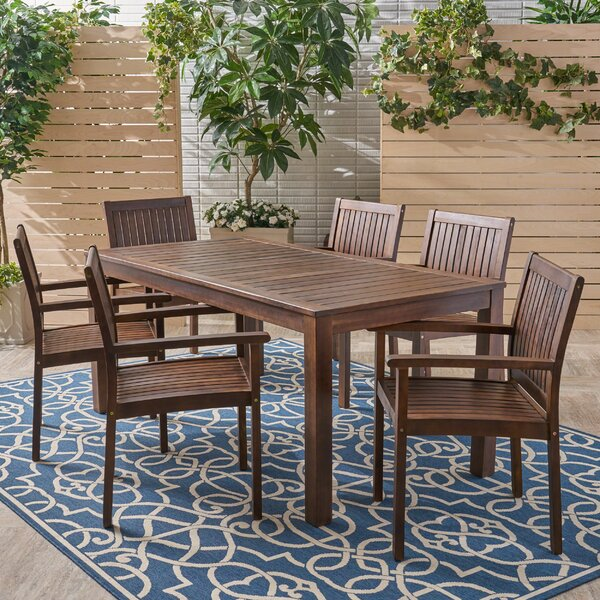 Bradninch 7 Piece Dining Set by Millwood Pines