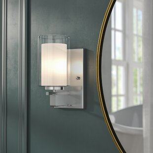 Top Reviews Bensenville 1-Light Bath Sconce By Mercury Row