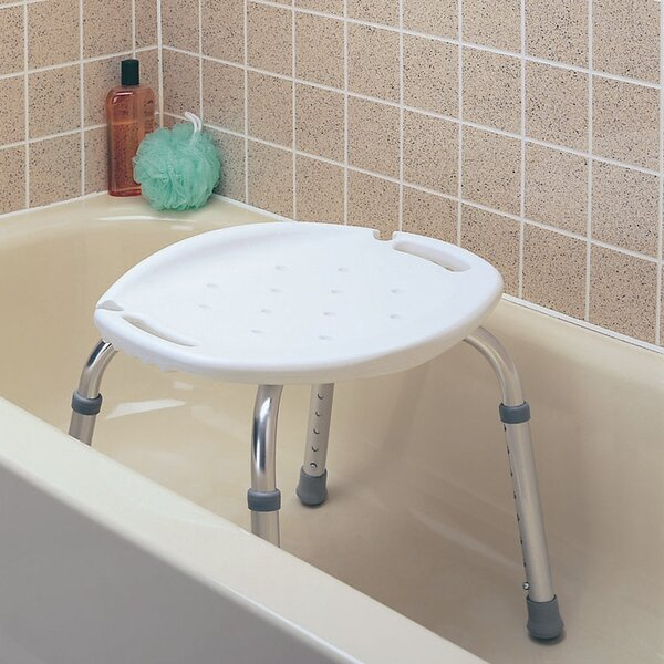 Adjustable Bath and Shower Seat without Back by Carex