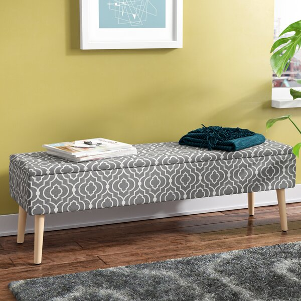 Valdivia Mid Century Upholstered Storage Bench by George Oliver
