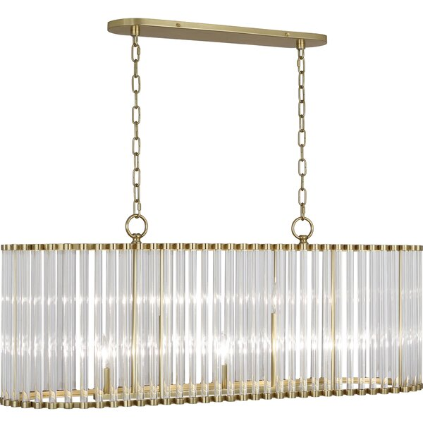 Cole 5-Light Rectangle Chandelier By Robert Abbey