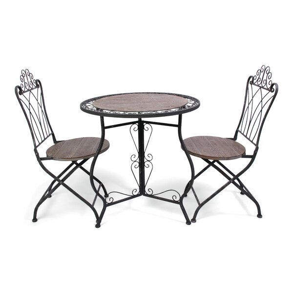 Chevy 3 Piece Bistro Set by Fleur De Lis Living