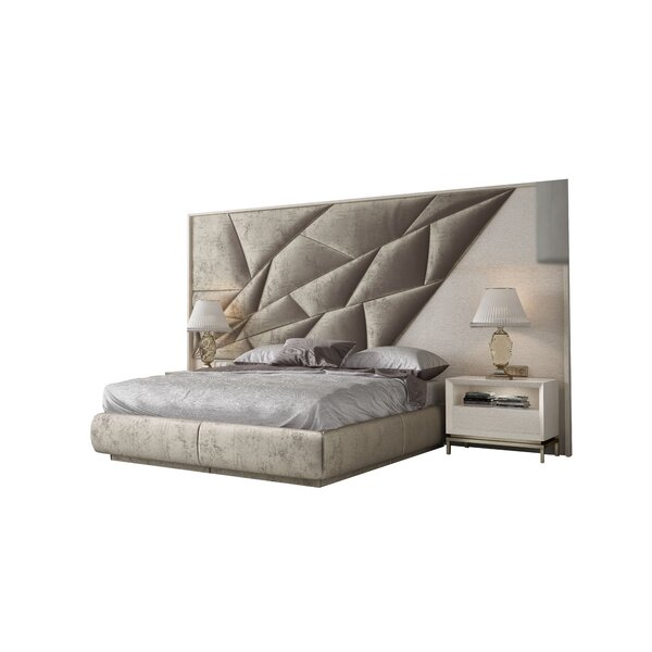 Helotes King Upholstered Standard Bed By Orren Ellis by Orren Ellis Read Reviews