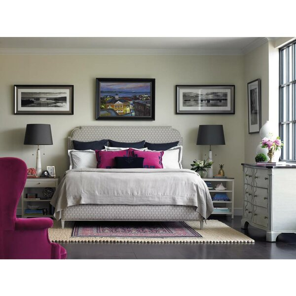 Charleston Regency Upholstered Panel Bed by Stanley Furniture