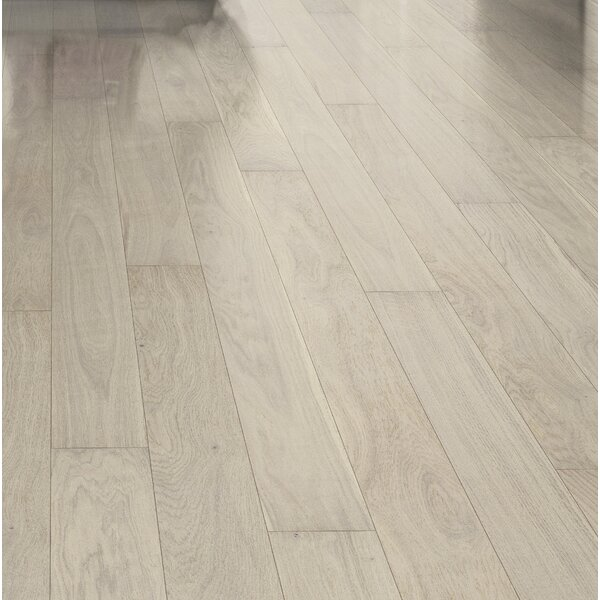 Shine 5-1/8 Engineered Oak Hardwood Flooring in Pearl by Kahrs