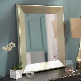 Affordable Rectangle Antique Silver Wall Mirror ByWilla Arlo Interiors