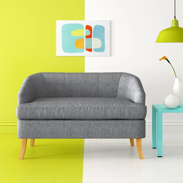 Apollo 49.25-inch Recessed Arms Loveseat By Hashtag Home