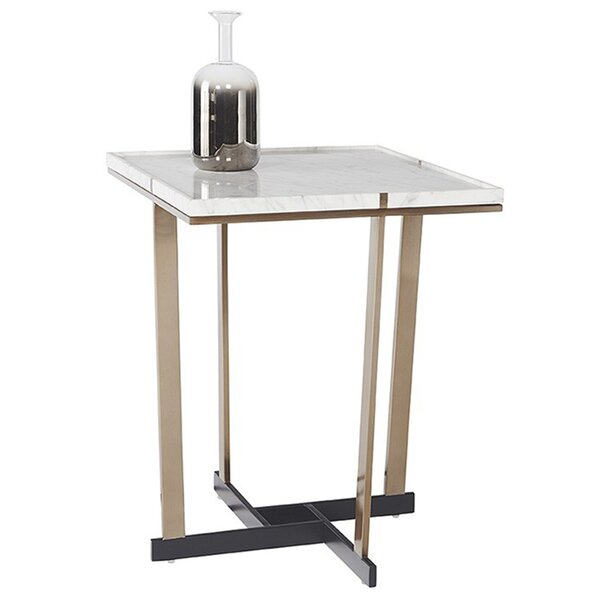 Madelyn Marble End Table by Sunpan Modern