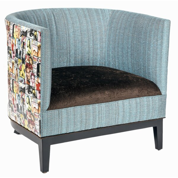 Magazine Barrel Chair by Loni M Designs
