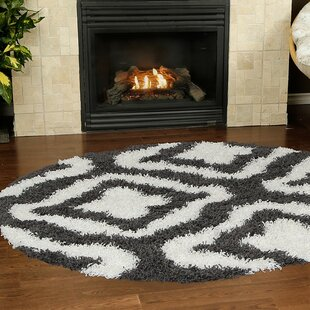 Compare Konopka Modern Shaggy Dark Gray/White Area Rug By House of Hampton