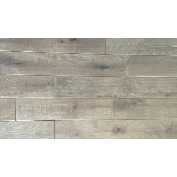Jasmine 6 Engineered Oak Hardwood Flooring in Distressed Driftwood by Welles Hardwood