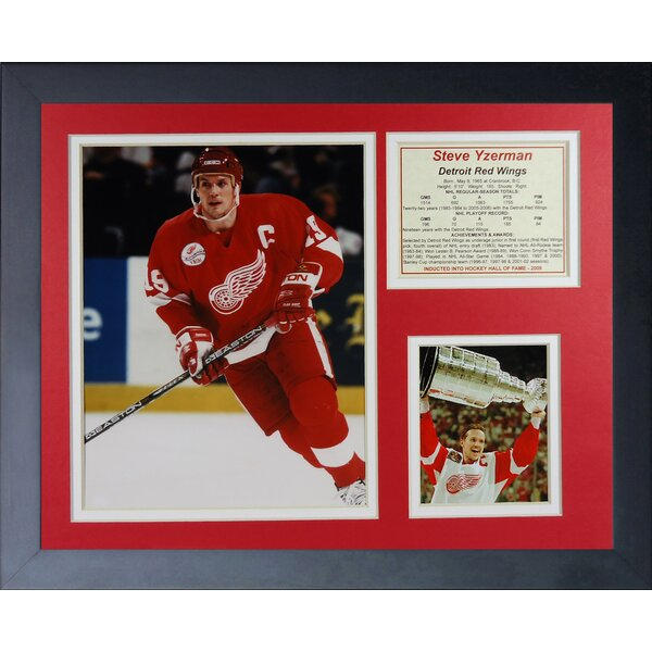 Steve Yzerman Framed Memorabilia by Legends Never Die