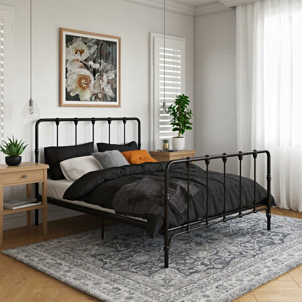 Viviana Farmhouse Metal Platform Bed by Laurel Foundry Modern Farmhouse