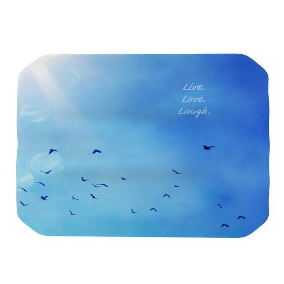Live Laugh Love Placemat by KESS InHouse