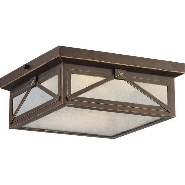 Sagebrush 1-Light Outdoor Flush Mount by Laurel Foundry Modern Farmhouse
